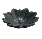 black stone bowls, flower shape black marble bowls, black marble bowls, good design of marble bowls, Black Marble Stone Bathroom Washbowl